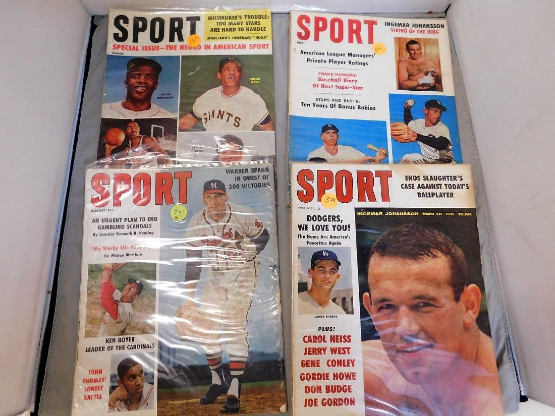 SPORT magazine 1960-61 HoF Covers - 5