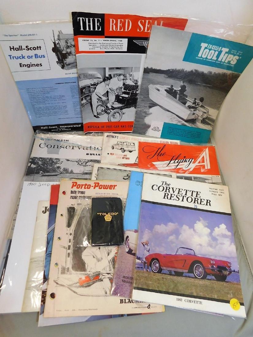 Assorted Manuals & Corvette Ephemera