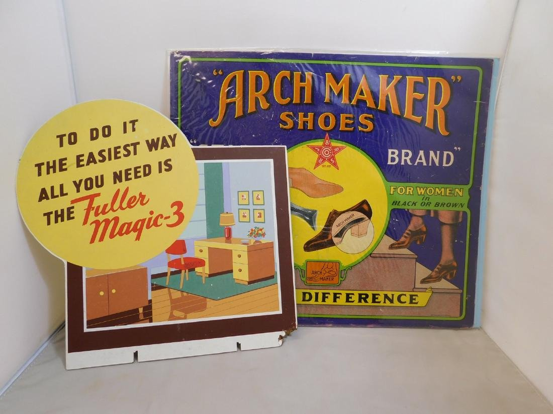 Vintage Arch Maker Shoe Sign