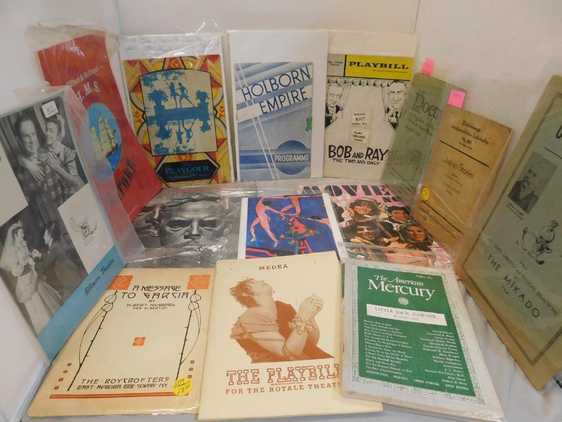 Playbills Gilbert & Sullivan; Mort Drucker;