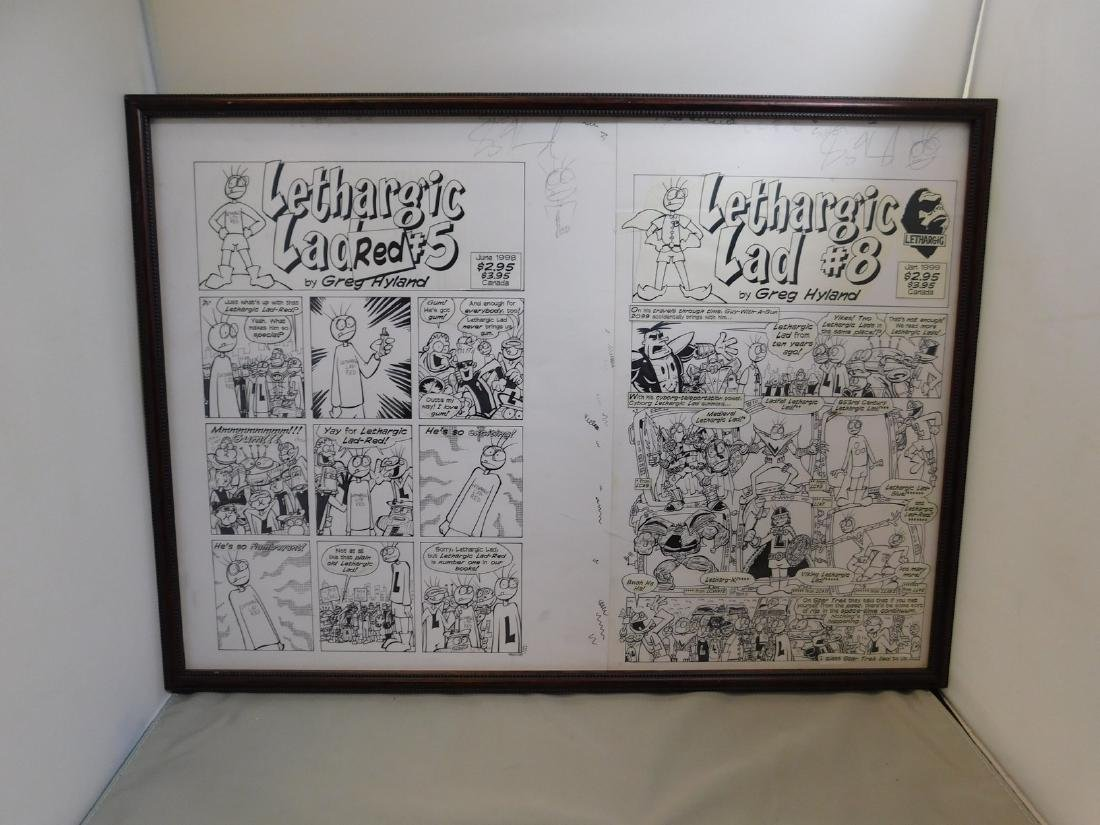 FRAMED HYLAND COMIC BOOK ART