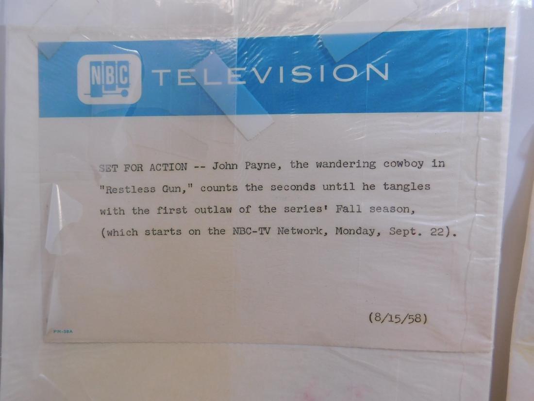 4 VINTAGE NBC PHOTO PROMOTIONS - BLACK & WHITE - 5