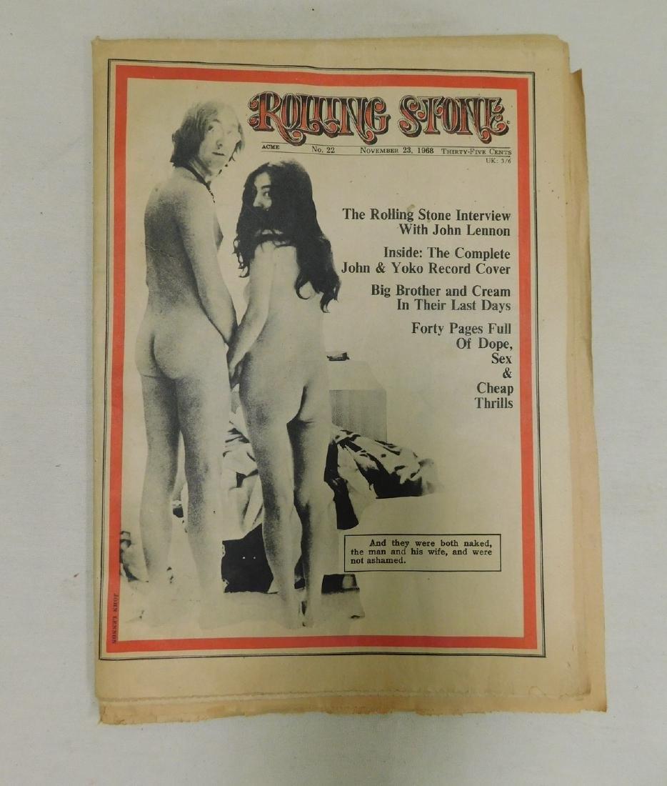 ROLLING STONE NEWSPAPER MAGAZINE ACME NO 22 - JOHN