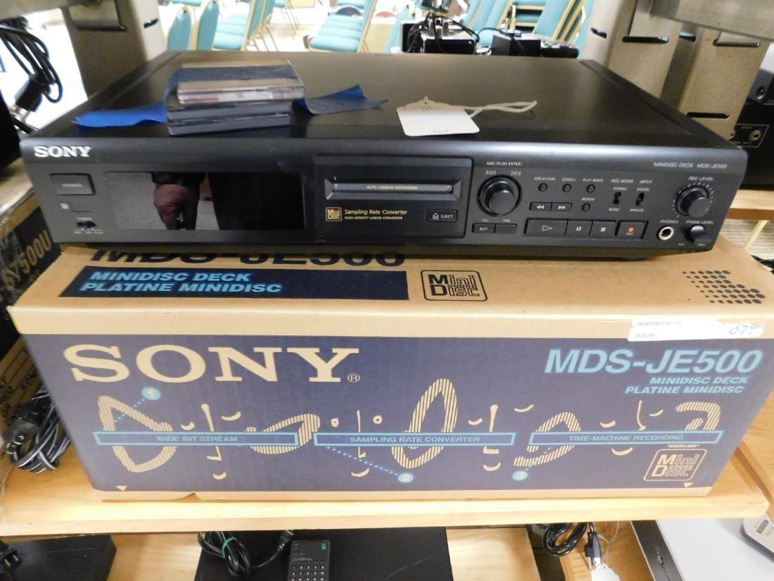 SONY MINIDISC DECK MDS - JE500