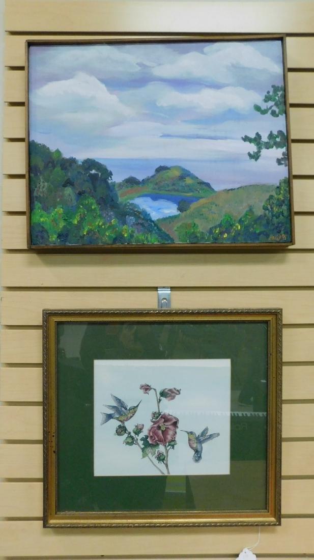 2 FRAMED ARTWORKS