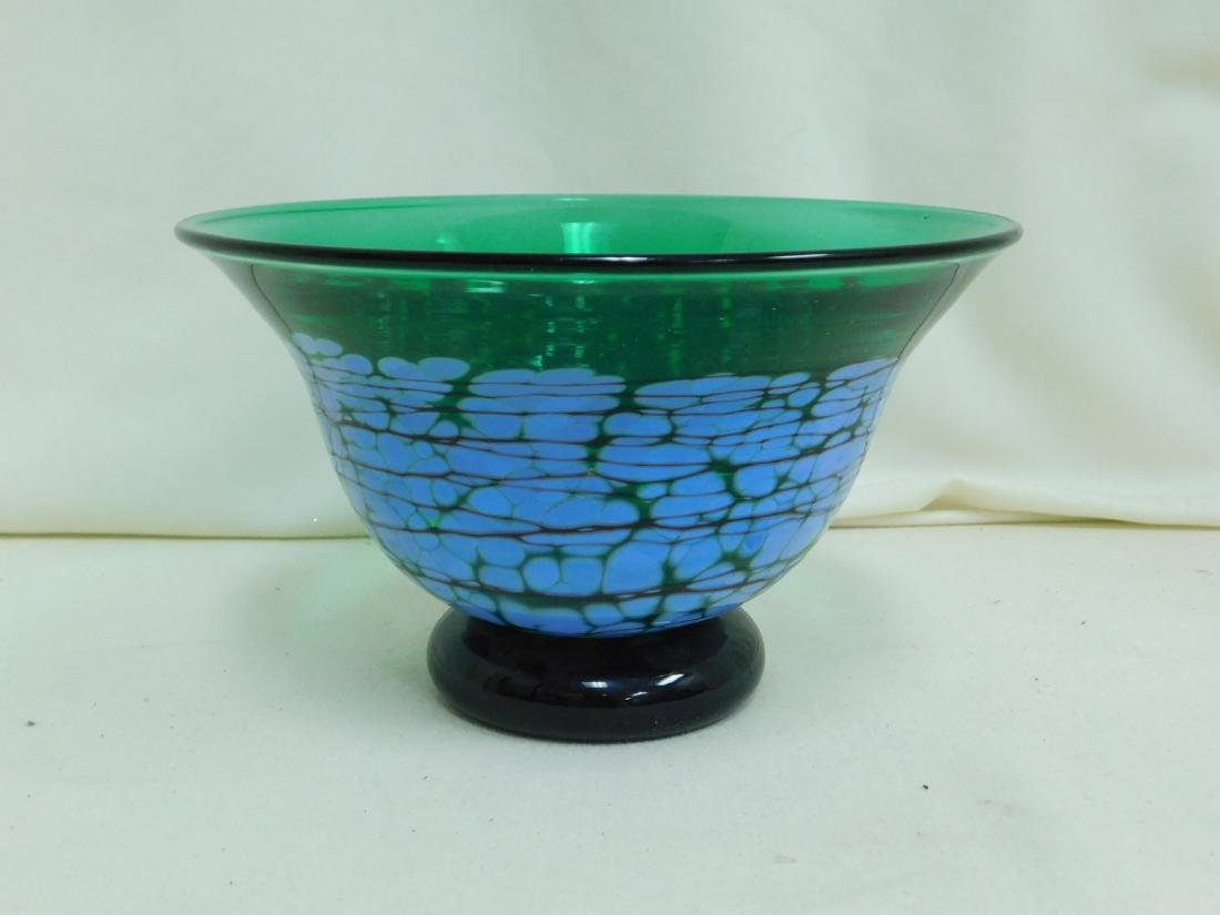 1991 RICHARDSON GREEN GLASS BOWL
