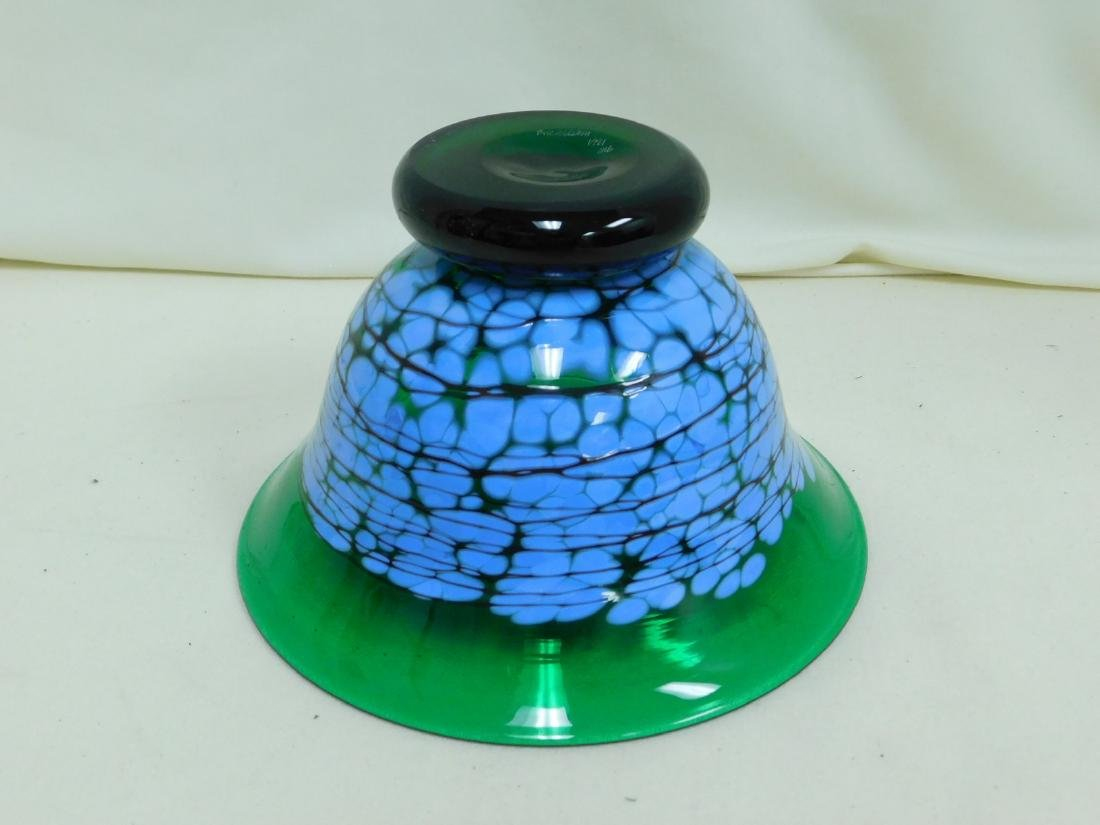 1991 RICHARDSON GREEN GLASS BOWL - 3