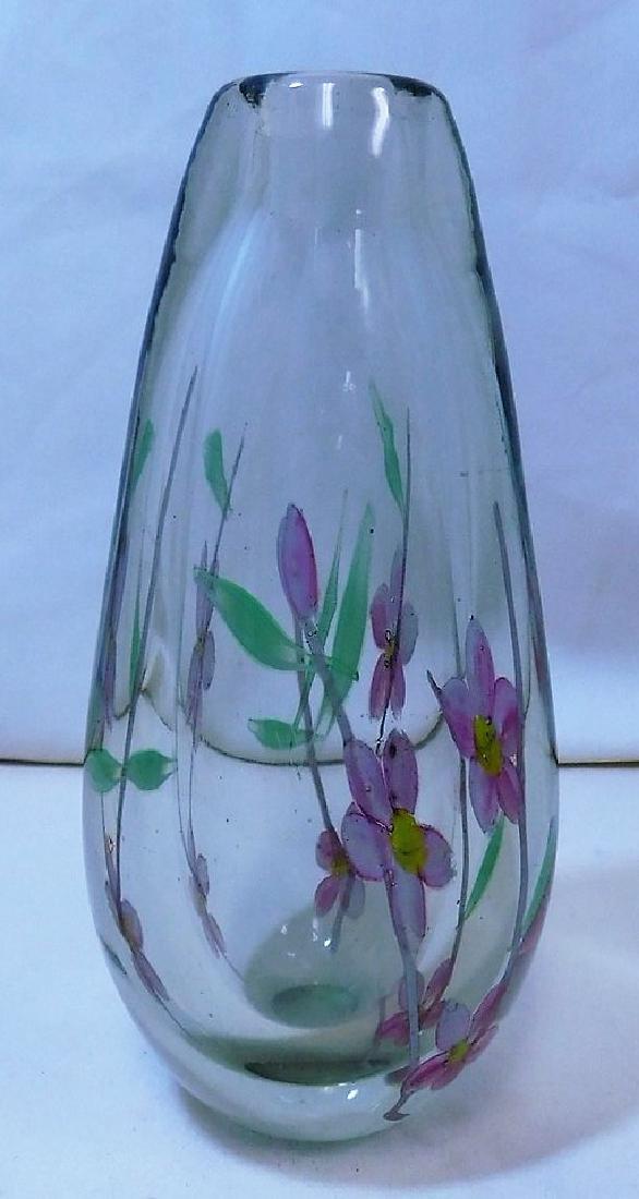 2 HANDBLOWN GLASS VASES - 6