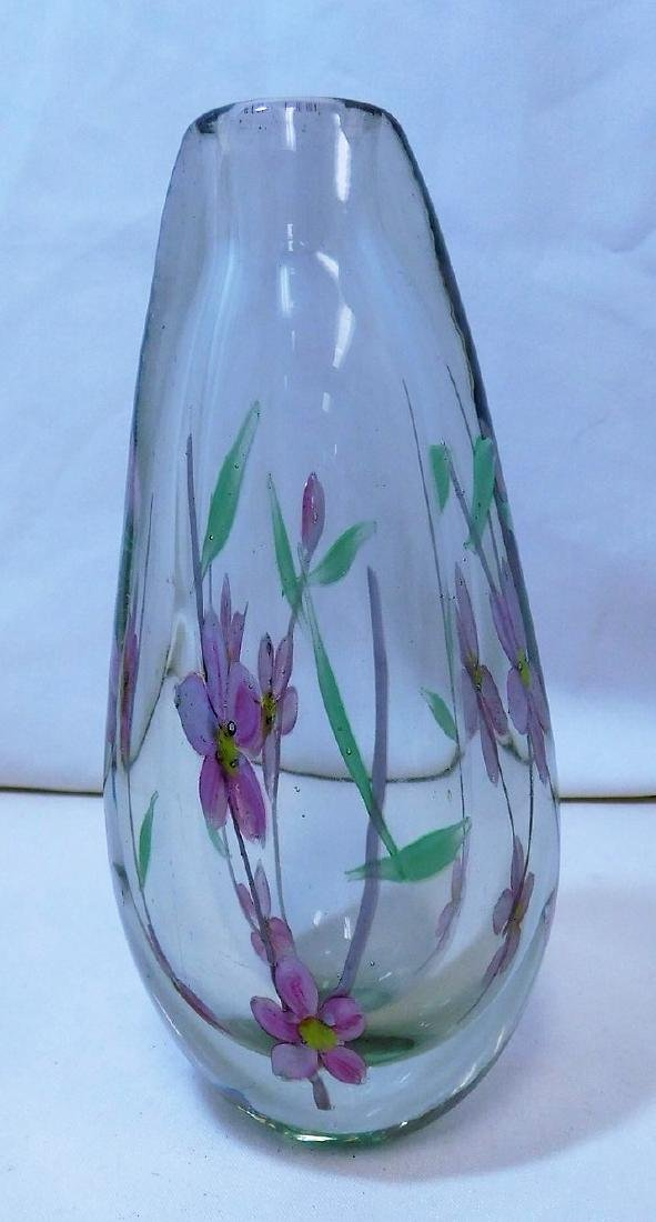 2 HANDBLOWN GLASS VASES - 8