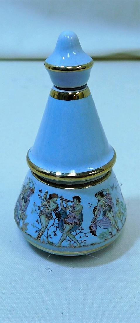 VINTAGE ART GLASS PERFUME BOTTLES - 4