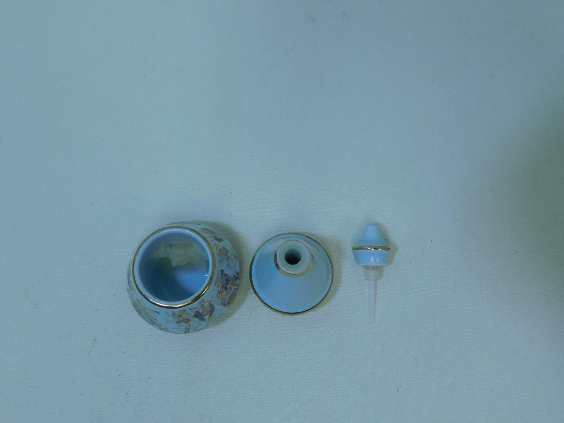 VINTAGE ART GLASS PERFUME BOTTLES - 6