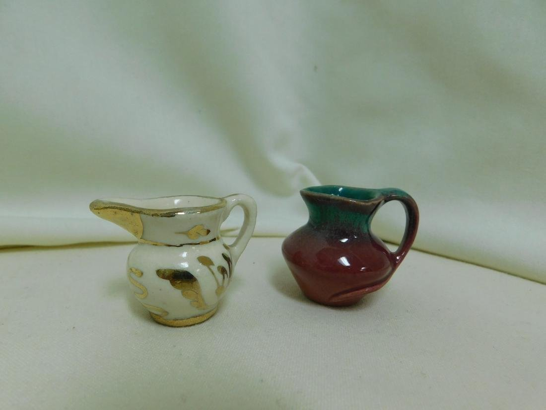 8 SMALL HANDMADE POTTERY PIECES -SIGNED - 2