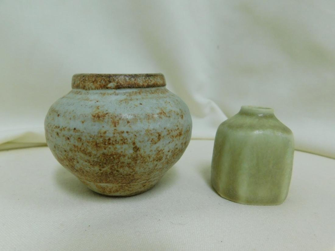 8 SMALL HANDMADE POTTERY PIECES -SIGNED - 4