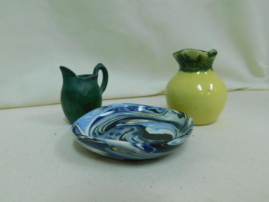 8 SMALL HANDMADE POTTERY PIECES -SIGNED - 8