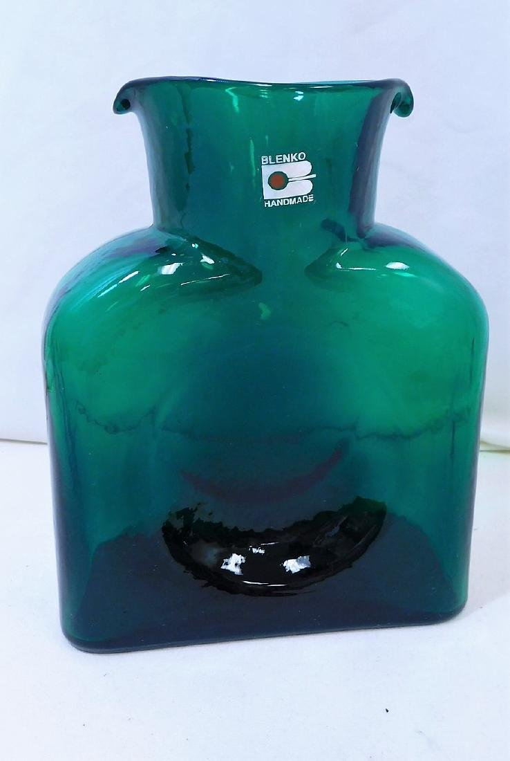 MID CENTURY MODERN BLENKO GLASS WATER BOTTLE