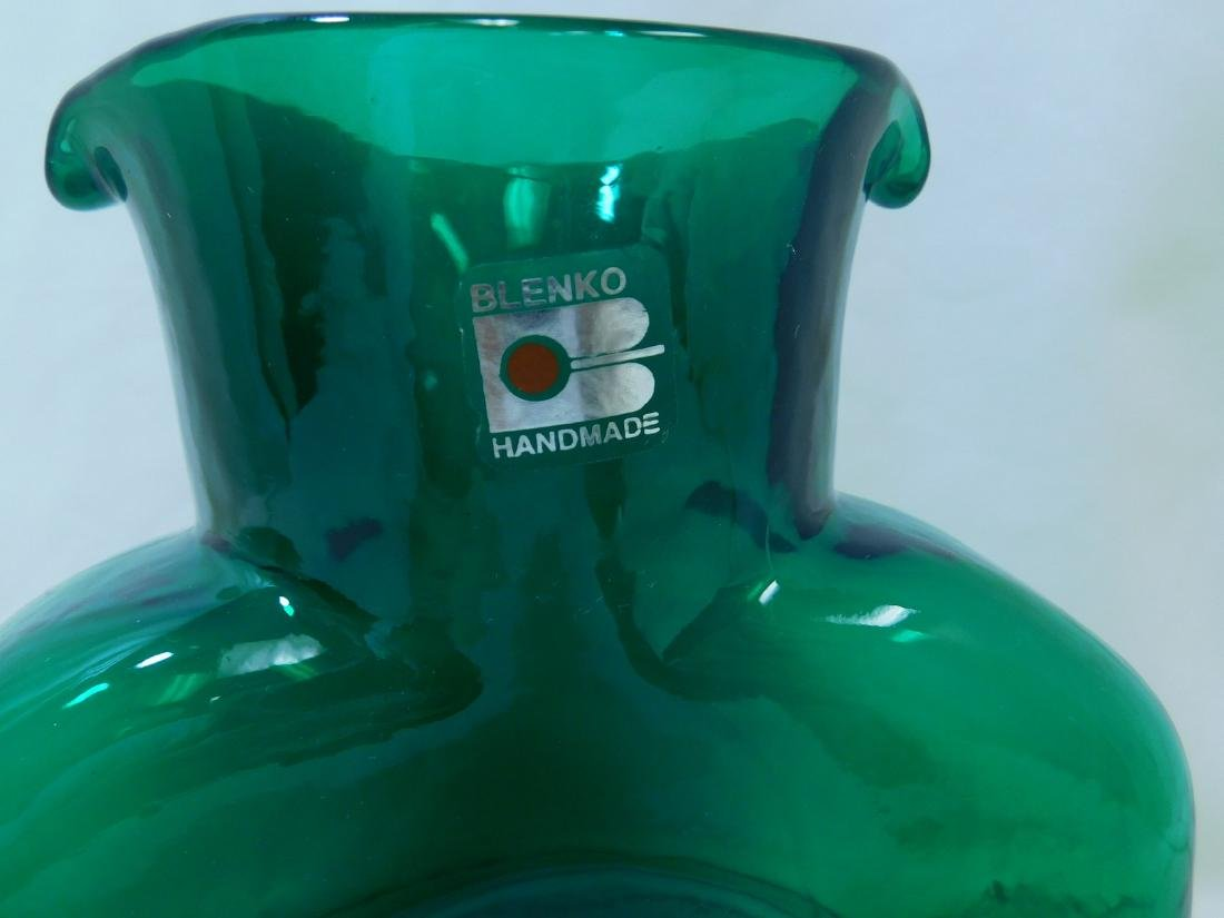 MID CENTURY MODERN BLENKO GLASS WATER BOTTLE - 2