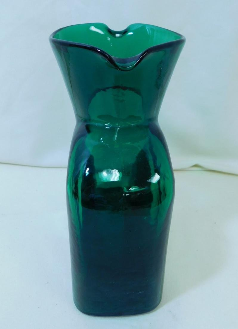 MID CENTURY MODERN BLENKO GLASS WATER BOTTLE - 3