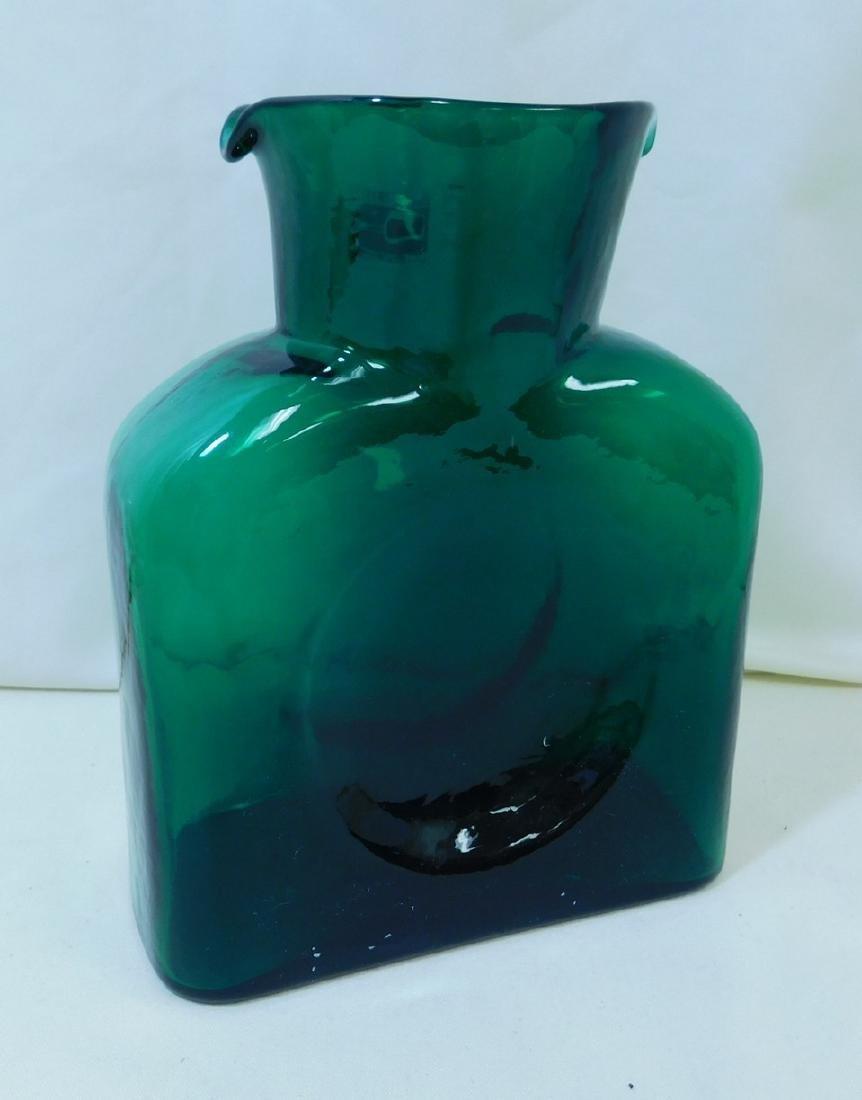 MID CENTURY MODERN BLENKO GLASS WATER BOTTLE - 4