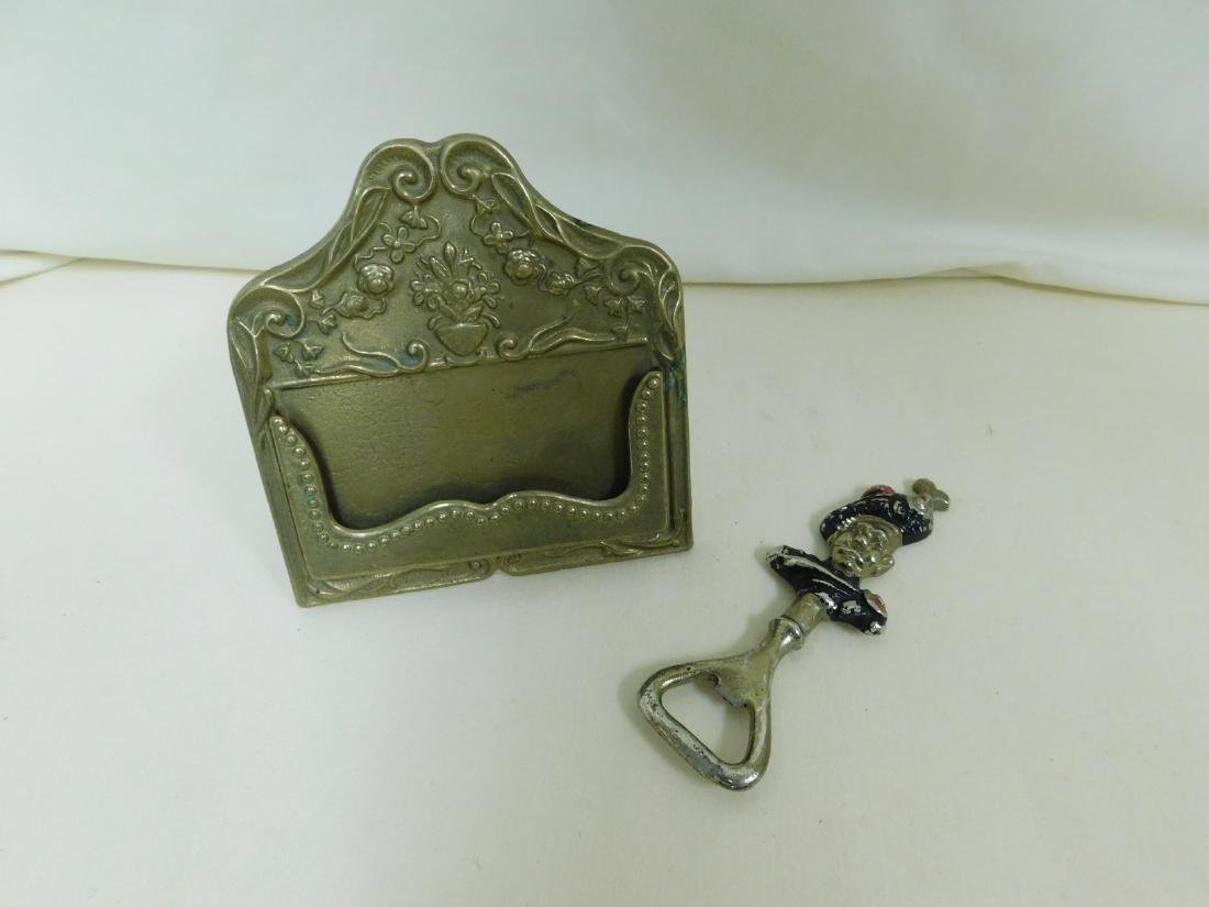 VINTAGE CARD HOLDER & BOTTLE OPENER