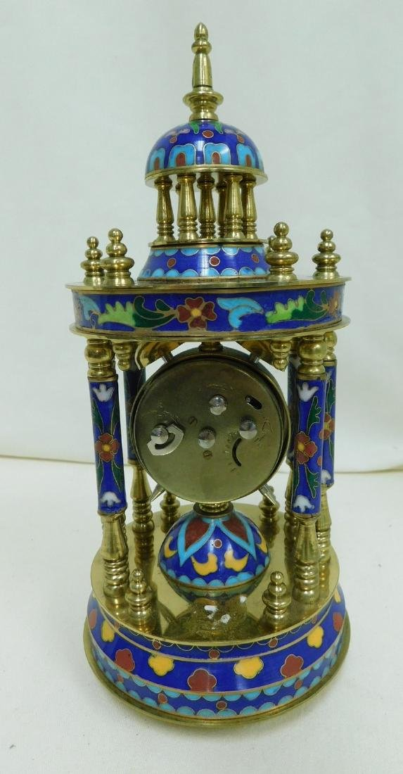 ORNATE CLOISONNE MANTEL CLOCK - 2