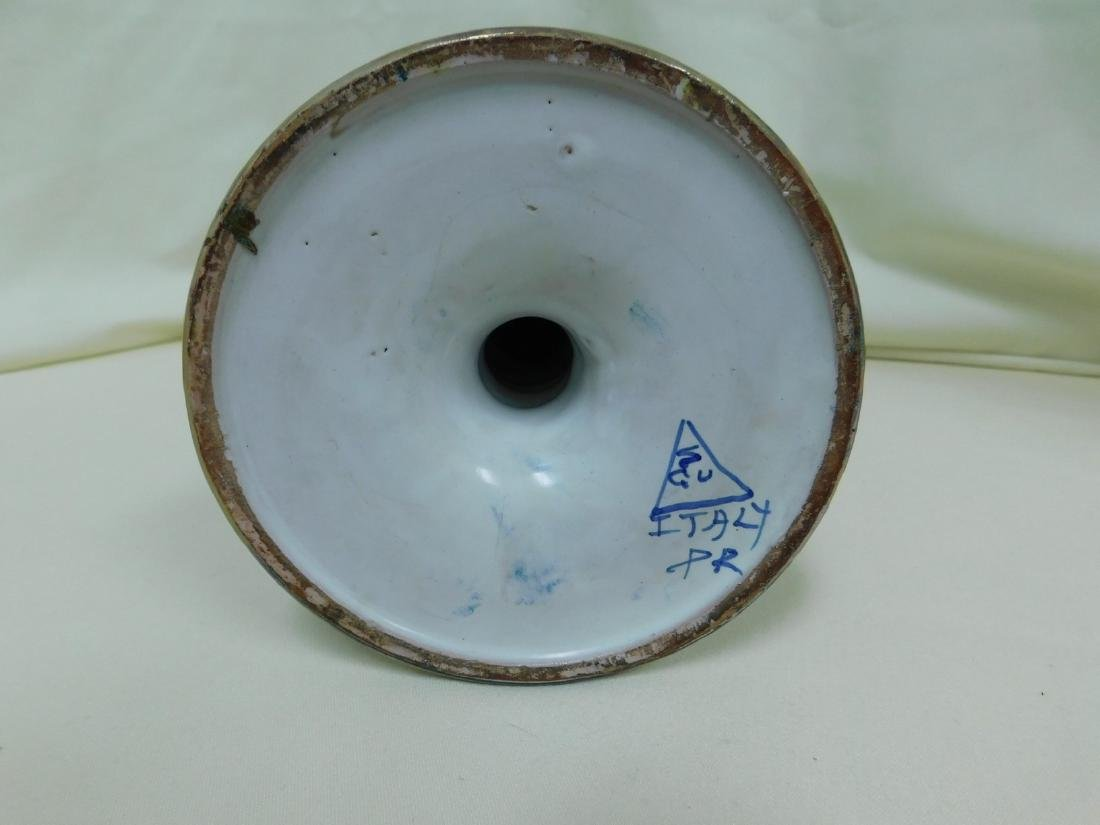 ITALIAN POTTERY TILE & CANDLE HOLDER - 7