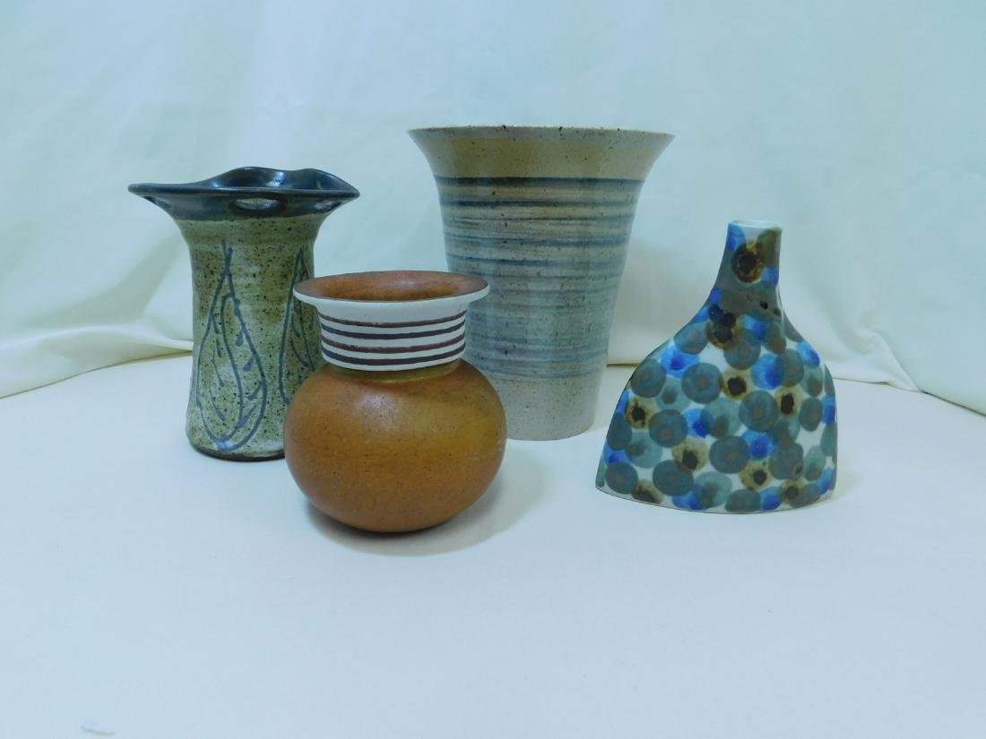 4 HANDMADE POTTERY PIECES