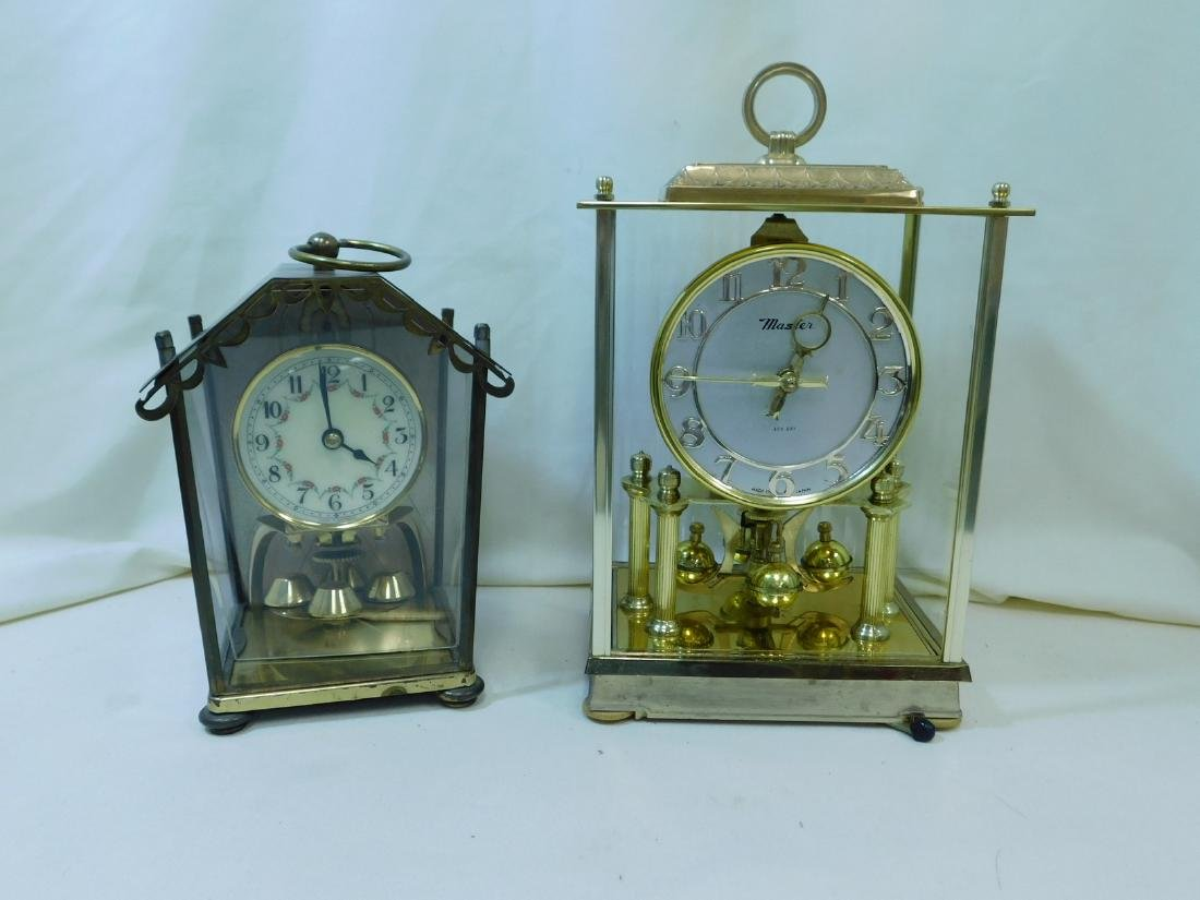 2 MANTEL/DESK CLOCKS