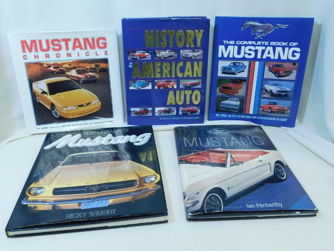 4 MUSTANG COFFEE TABLE BOOKS & MORE