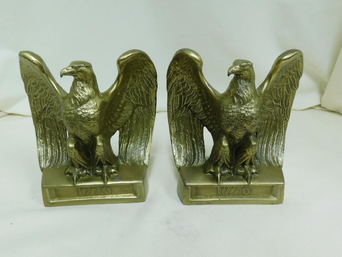 Precise Pair Antique Cast Iron Eagle Eagles Architectural & Garden