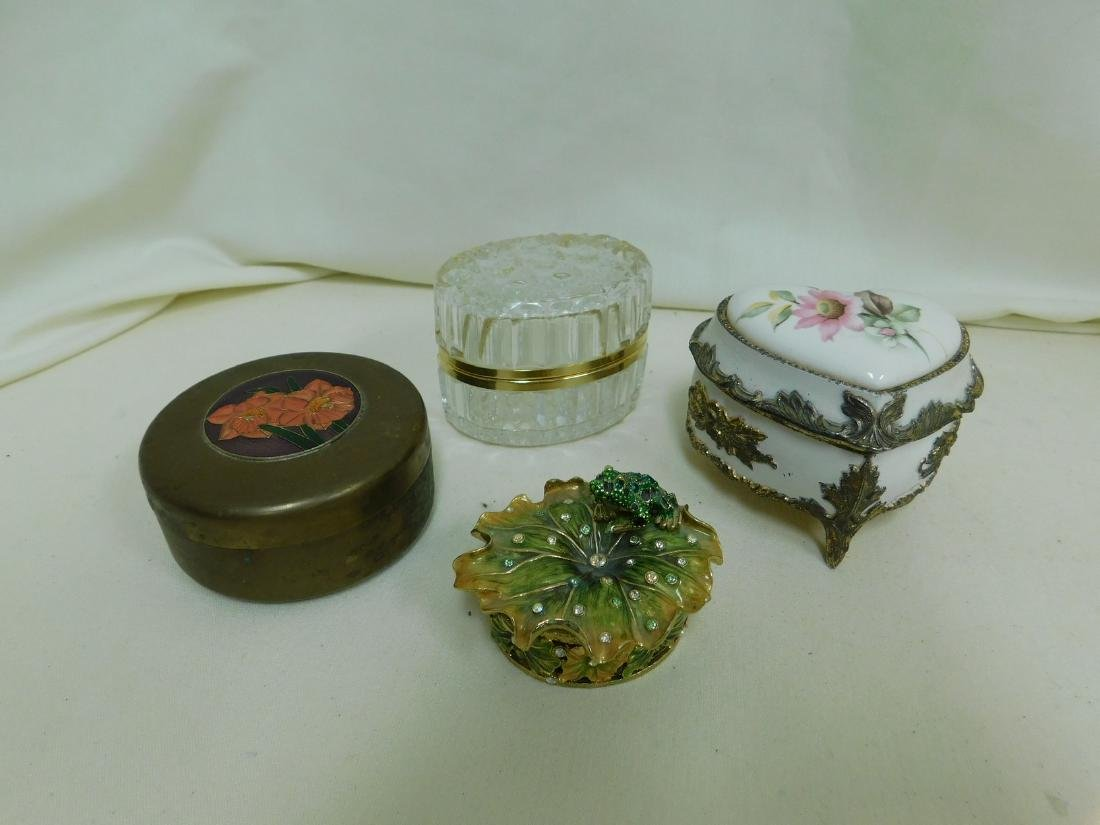 4 TRINKET/JEWELRY BOXES