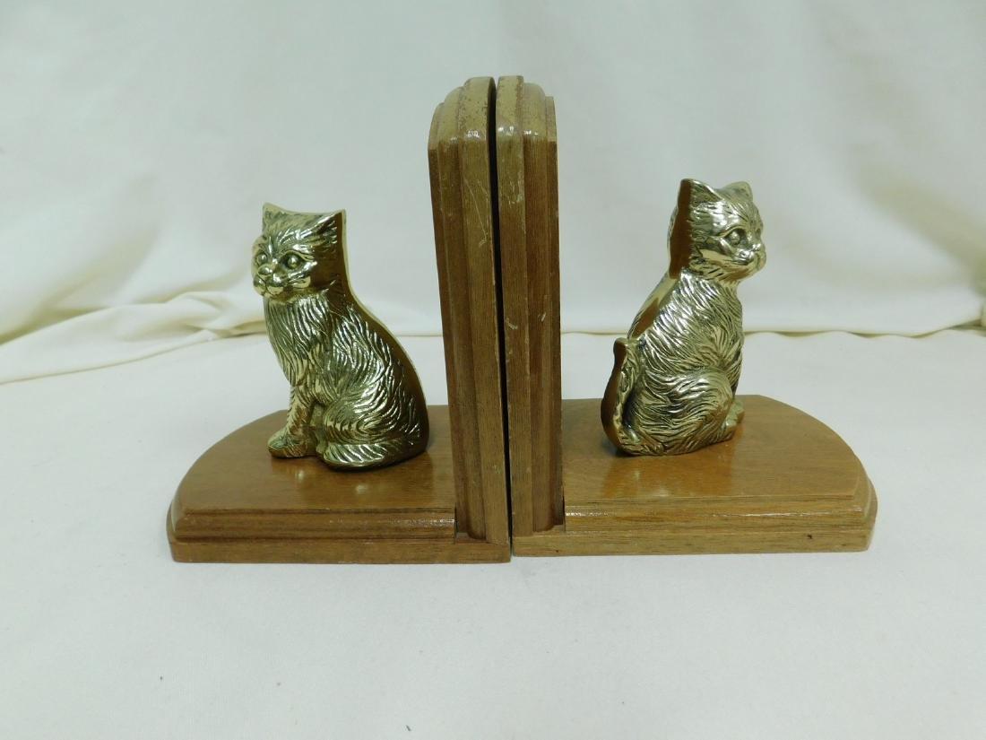 2 SETS OF VINTAGE CAT BOOKENDS - 2