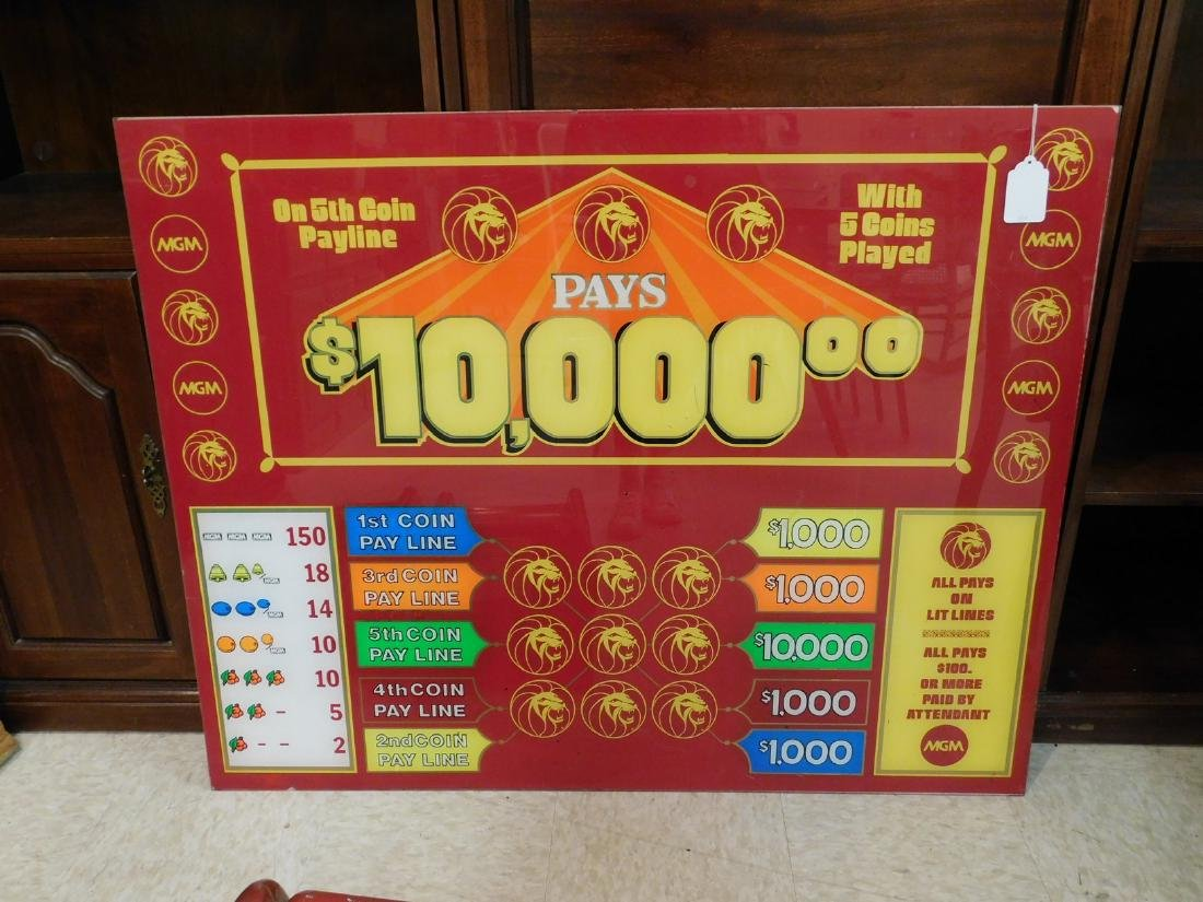 MGM VINTAGE CASINO GAME LEXI SIGN