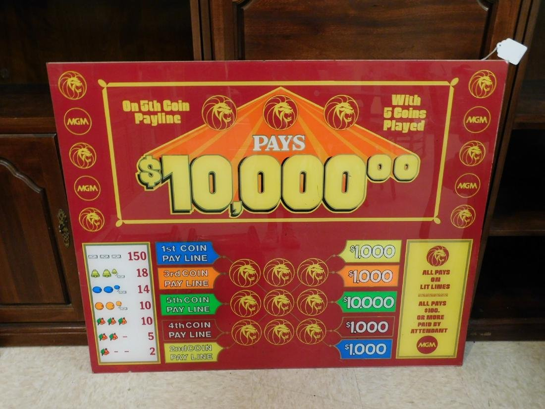 MGM VINTAGE CASINO GAME LEXI SIGN - 2