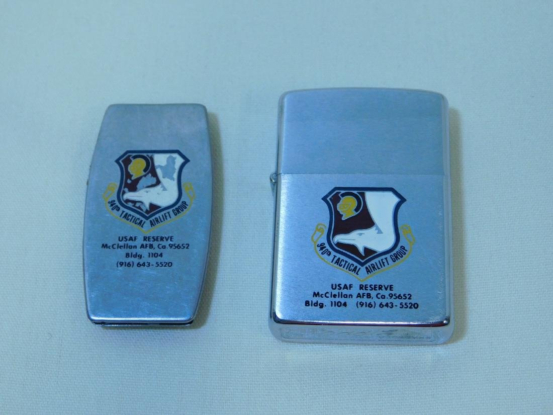 VINTAGE ZIPPO LIGHTER & UTILITY MONEY CLIP - USAF - 2