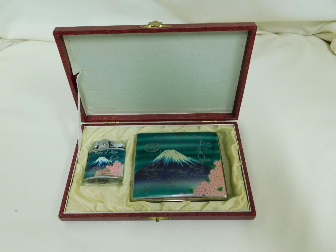 MEMORY OF JAPAN - CIGARETTE CASE & LIGHTER