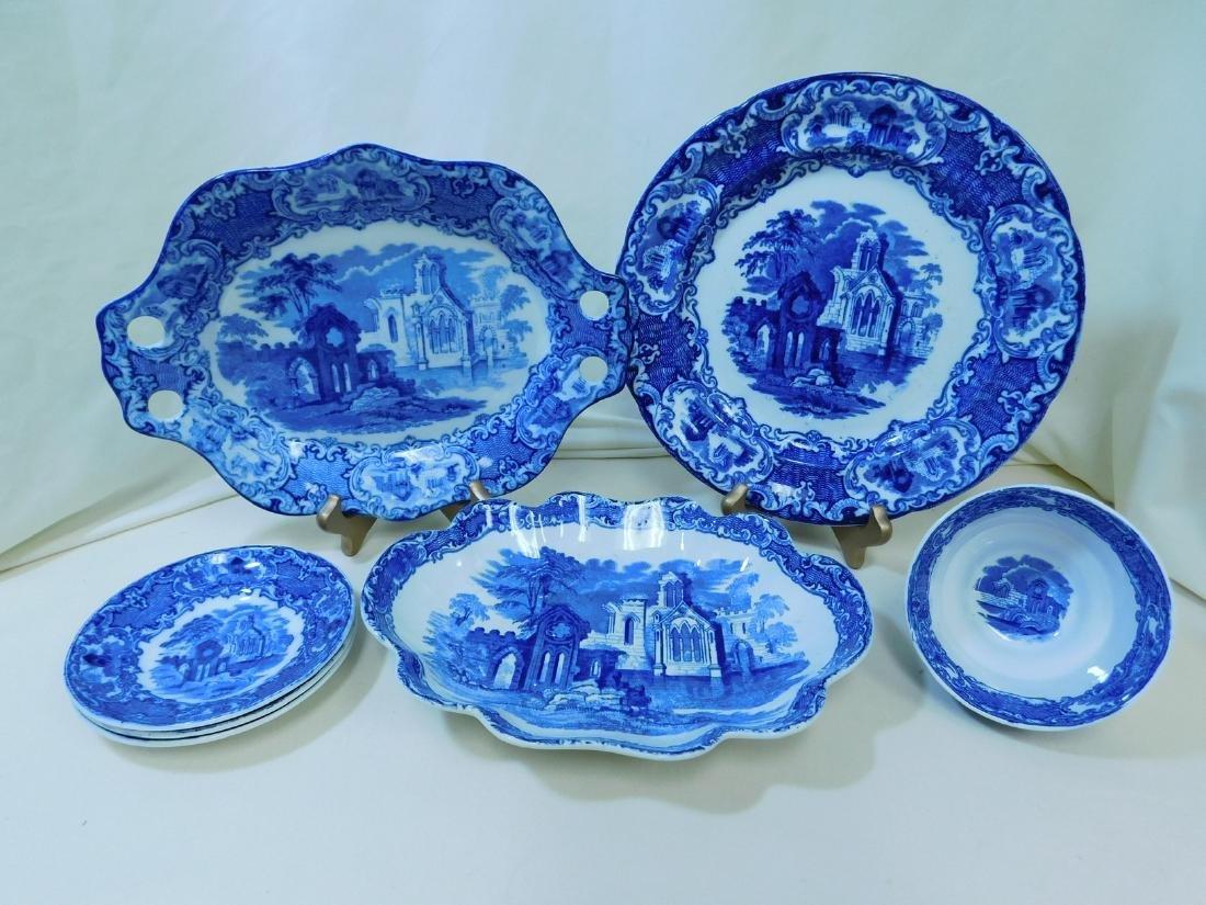 7 BLUE & WHITE CHINA PIECES