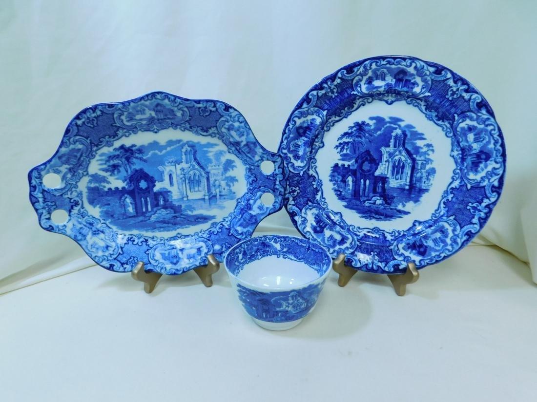 7 BLUE & WHITE CHINA PIECES - 2