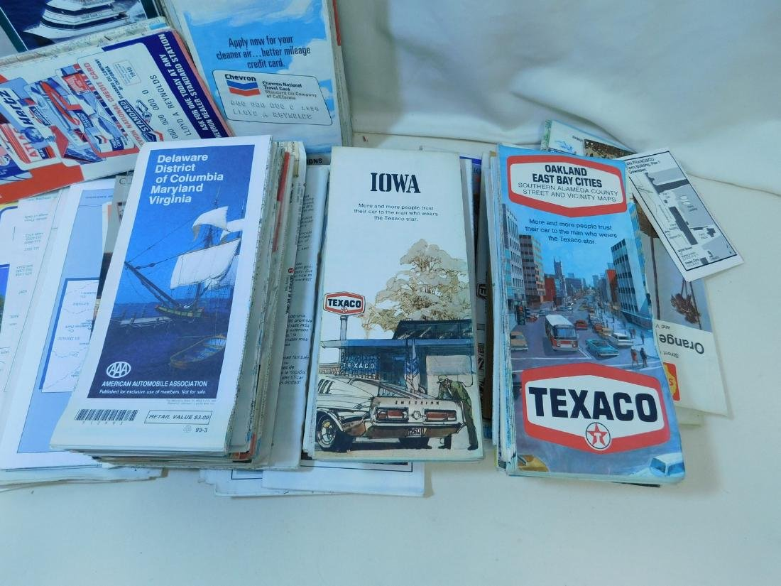 BOX OF VINTAGE ROAD MAPS - 5