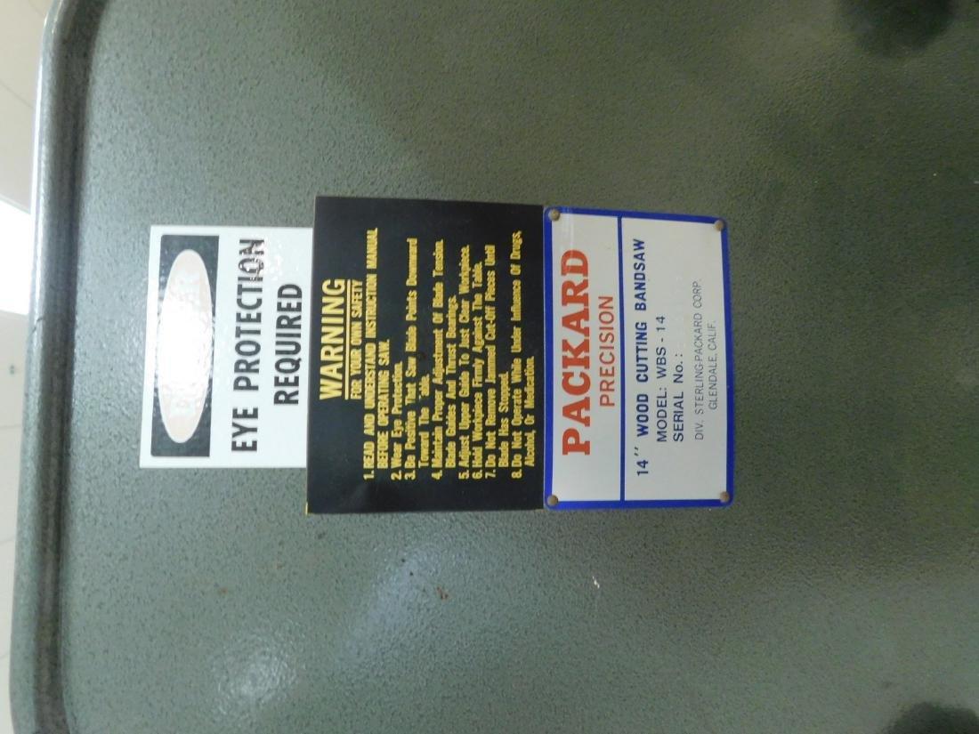 PACKARD PRECISION 14 INCH WOOD CUTTING BAND SAW - 2