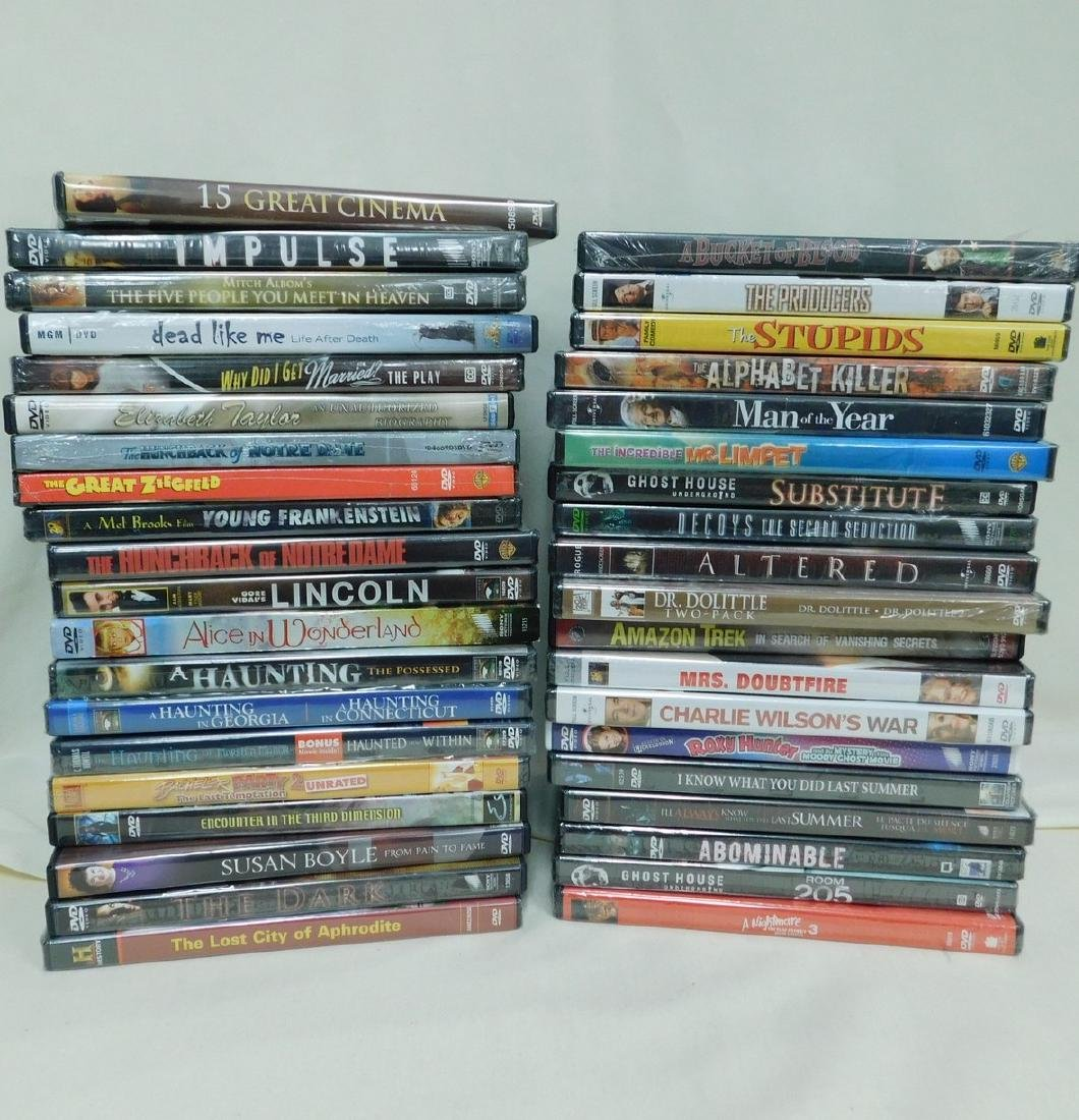39 DVD'S VARIOUS GENRE - MOST NEW IN PACKAGING