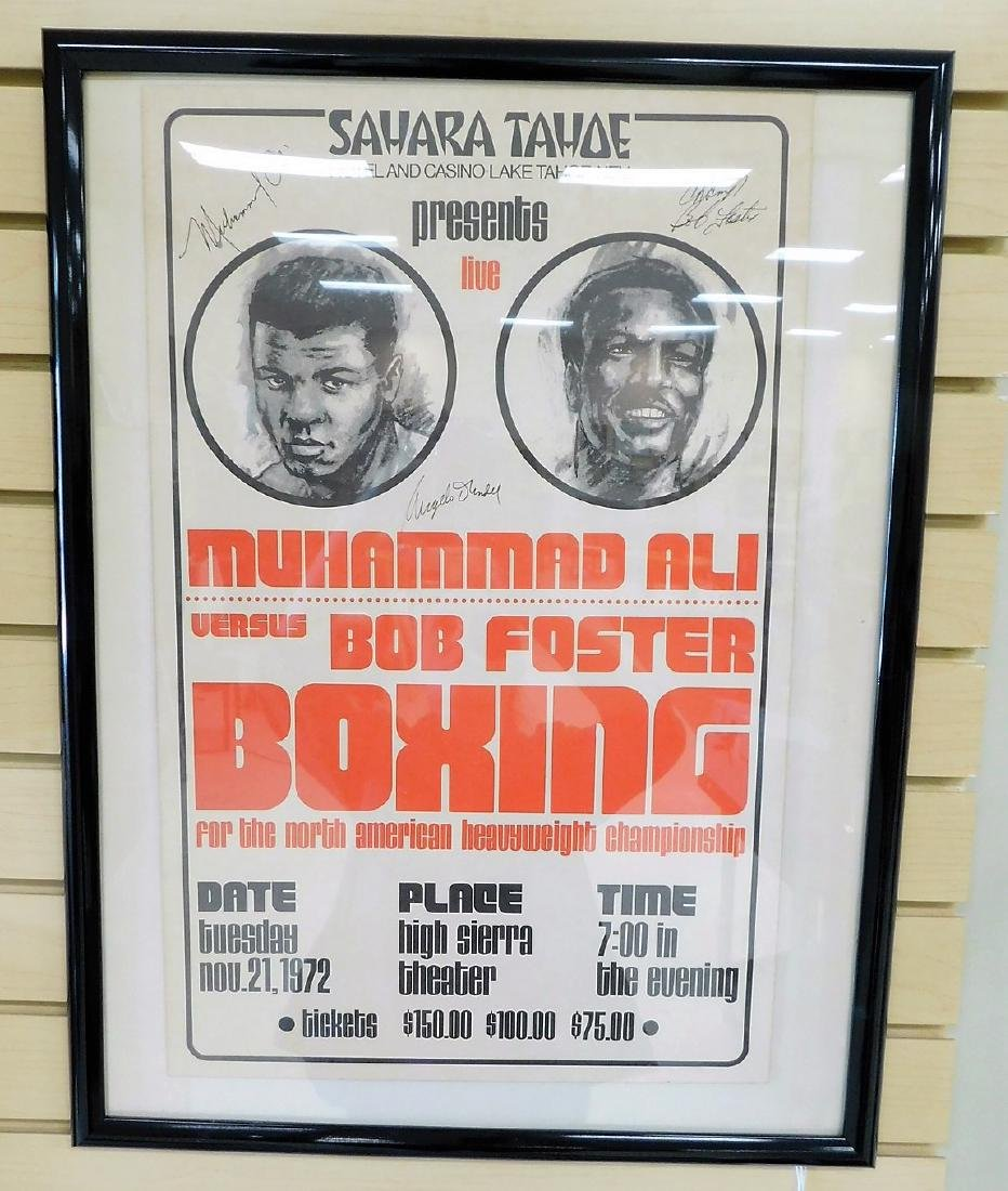 AUTOGRAPHED MUHAMMAD ALI FIGHT POSTER