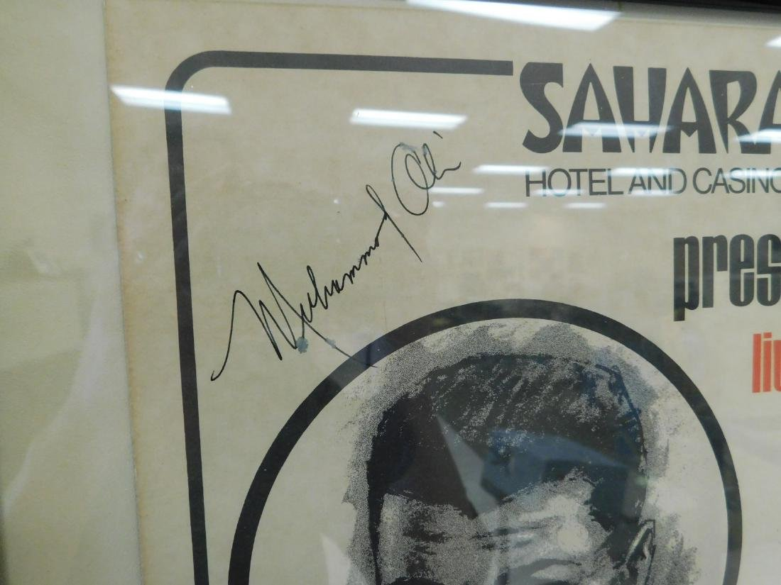 AUTOGRAPHED MUHAMMAD ALI FIGHT POSTER - 2