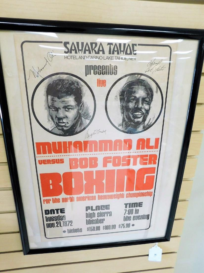 AUTOGRAPHED MUHAMMAD ALI FIGHT POSTER - 5