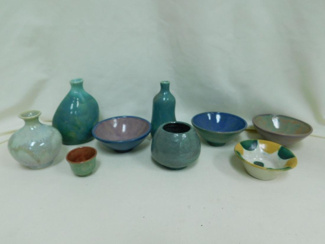 9 SMALL POTTERY PIECES