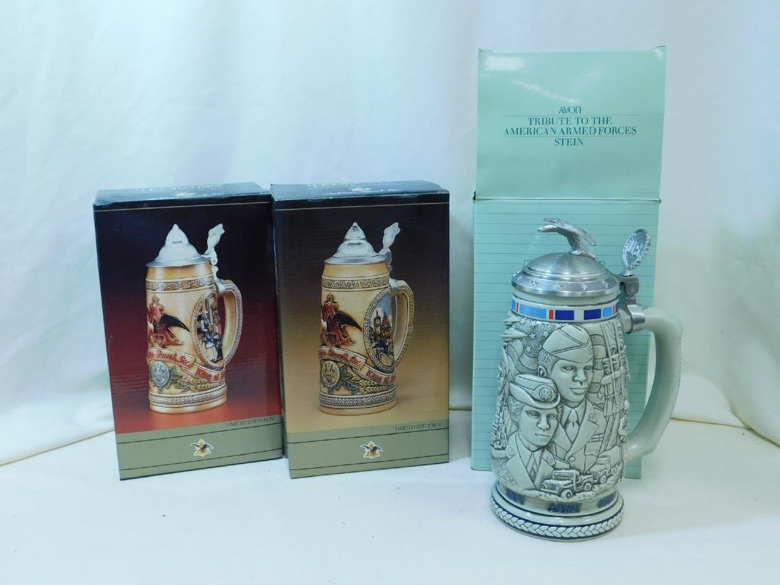 3 NIB BEER STEINS