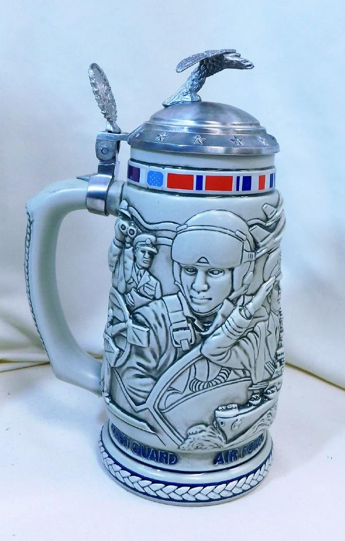 3 NIB BEER STEINS - 3
