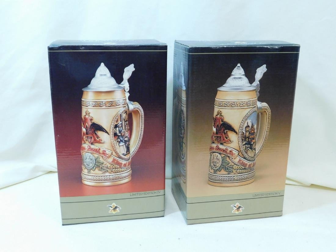 3 NIB BEER STEINS - 6