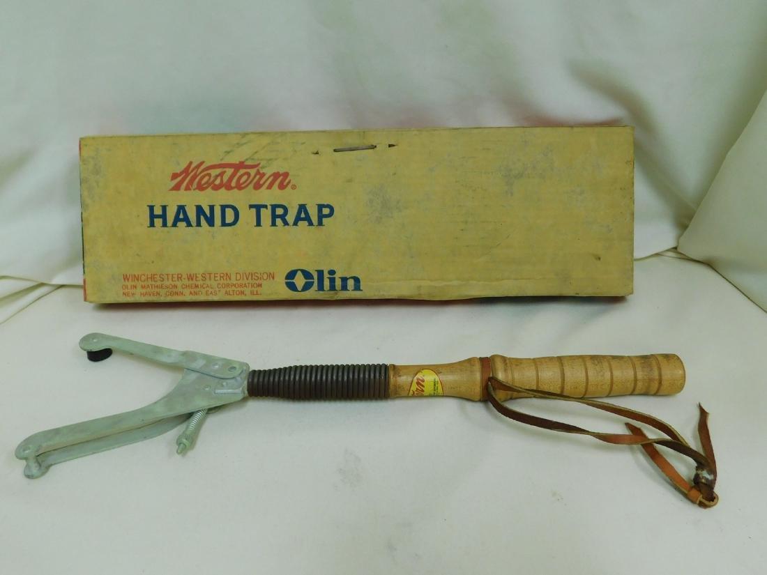VINTAGE WESTERN HAND TRAP IN ORIGINAL BOX - 2
