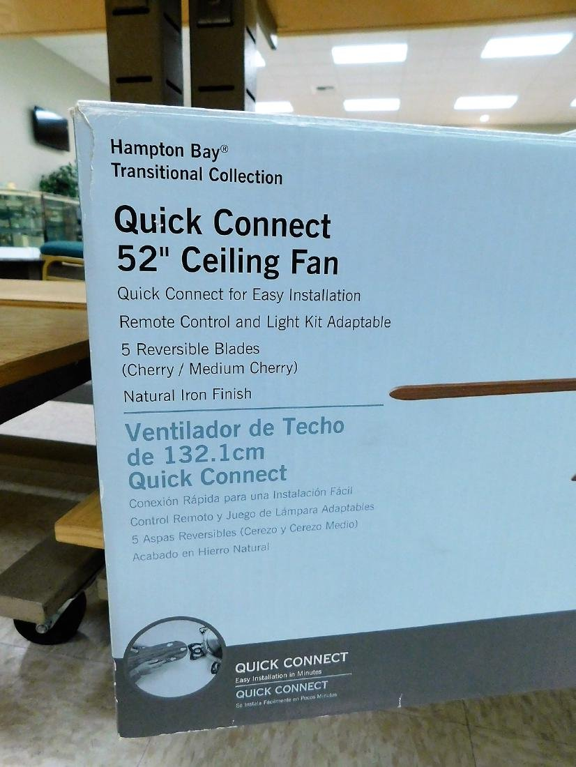 HAMPTON BAY 52 INCH CEILING FAN - NIB - 2