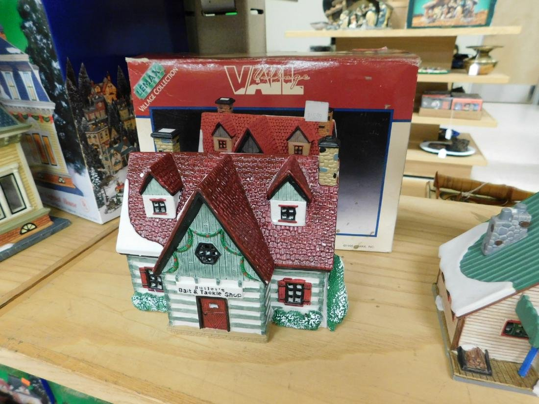5 LIGHTED CHRISTAMS HOUSES - 2
